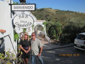 Karin and Ludo Janssens in front of their B&B finca Lagabella