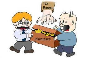 inheritance tax paid by the heirs